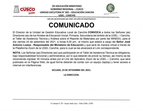 COMUNICADO SIAGIE - 24-09-2021