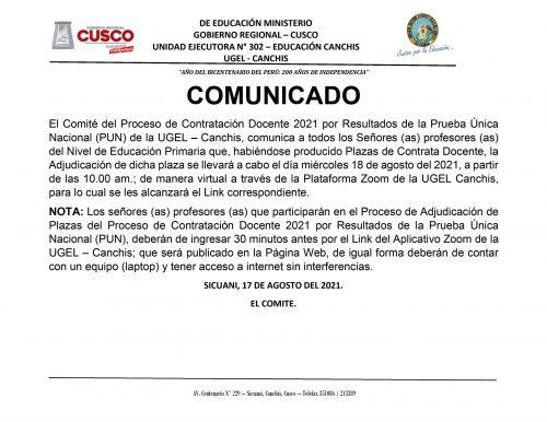 CONTRATA DOCENTE 2021- 18-08-2021.