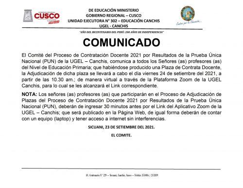 CONTRATA DOCENTE - PRIMARIA - 24-09-2021