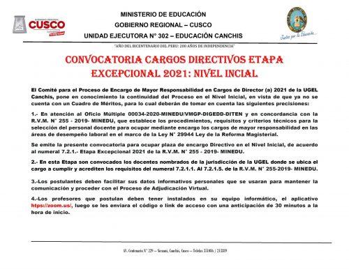 CONVOCATORIA CARGO DIRECTIVO NIVEL INICIAL 2021. - 0001