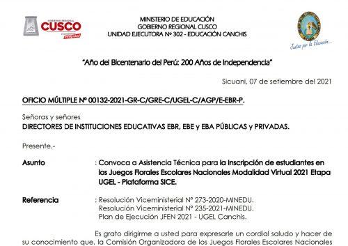 Oficio Multiple 132-2021-UGEL Canchis_AT Inscripcion JFEN Modalidad Virtual 2021_01